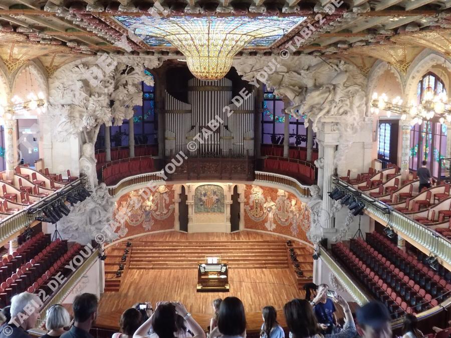 カタルーニャ音楽堂 天井 ステンドグラス