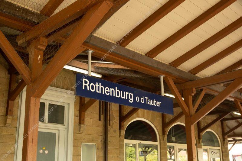 Rothenburg ob der Tauber ローテンブルク駅