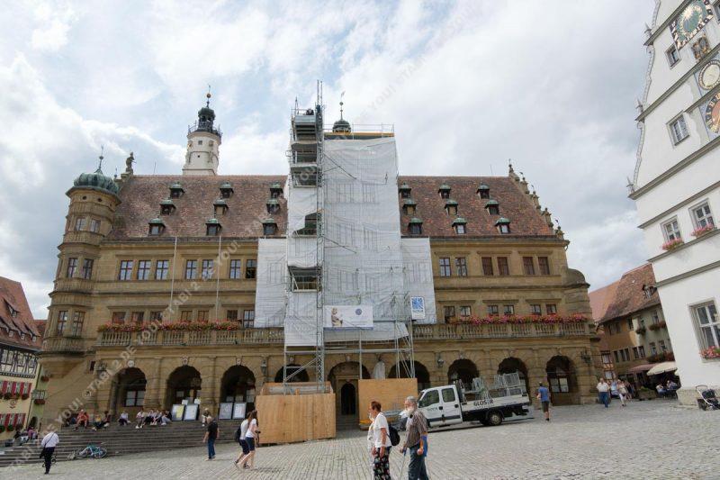 ローテンブルクのマルクト広場の市庁舎